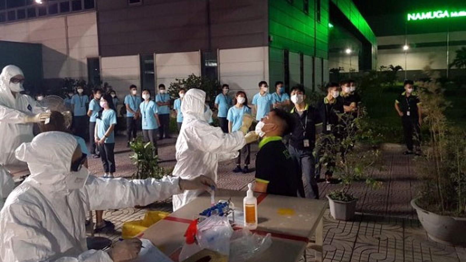 Phú Thọ xét nghiệm Covid-19 cho hơn 2.000 công nhân khu công nghiệp