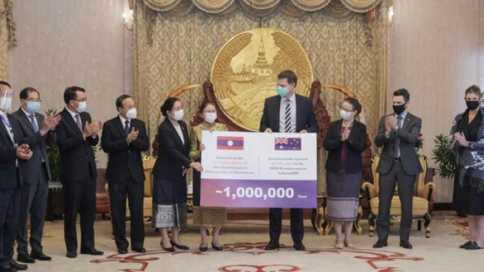 Australia viện trợ cho Lào1 triệu liều vaccine ngừa Covid-19
