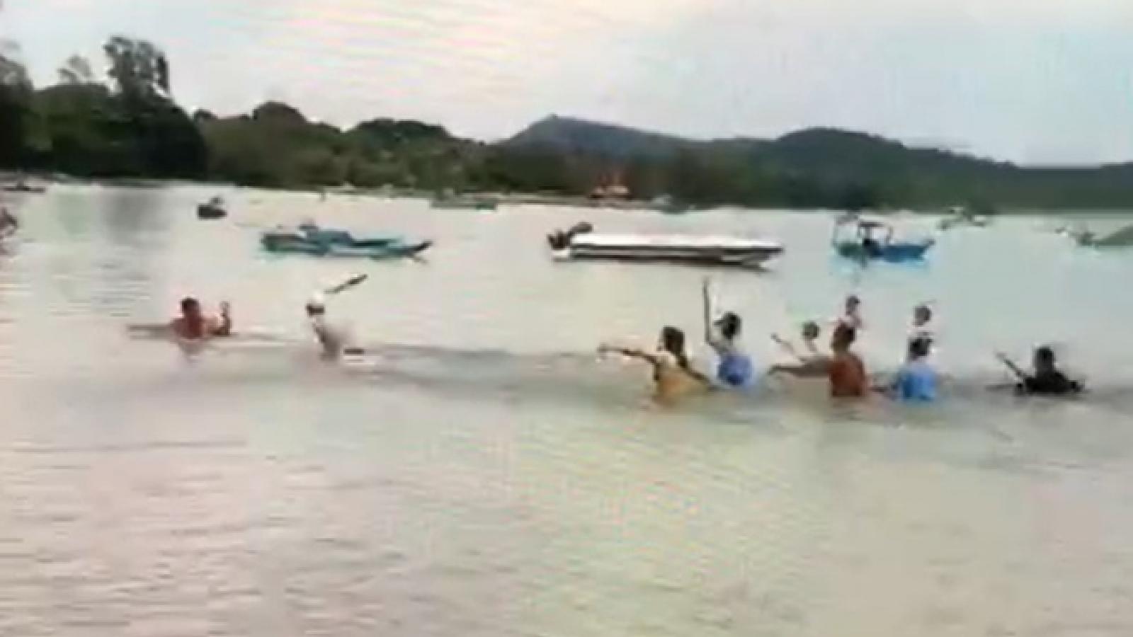 Bảo vệ khu nghỉ dưỡng ở Phú Quốc  đánh 2 người gãy tay