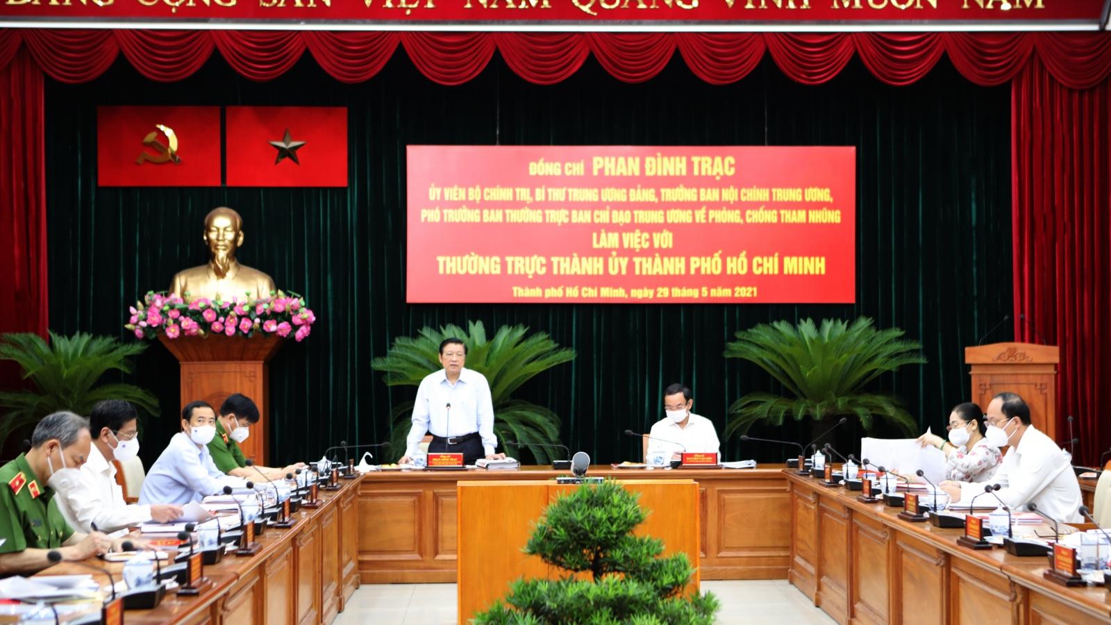 Trưởng Ban Nội chính Trung ương kiểm tra việc xử lý các sai phạm tại TPHCM