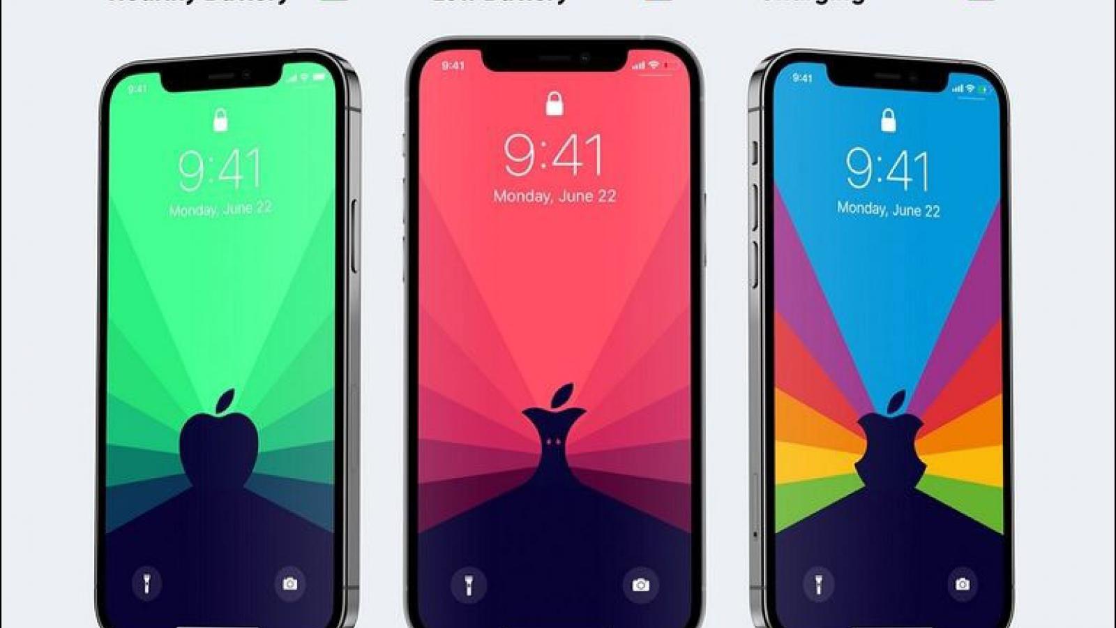 Hình nền động Ben Vessey phản ánh tình trạng pin của iPhone