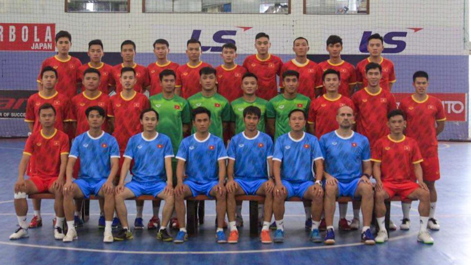 """ĐT Futsal Việt Nam chốt danh sách sang UAE """"săn"""" vé dự Futsal  World Cup 2021"""