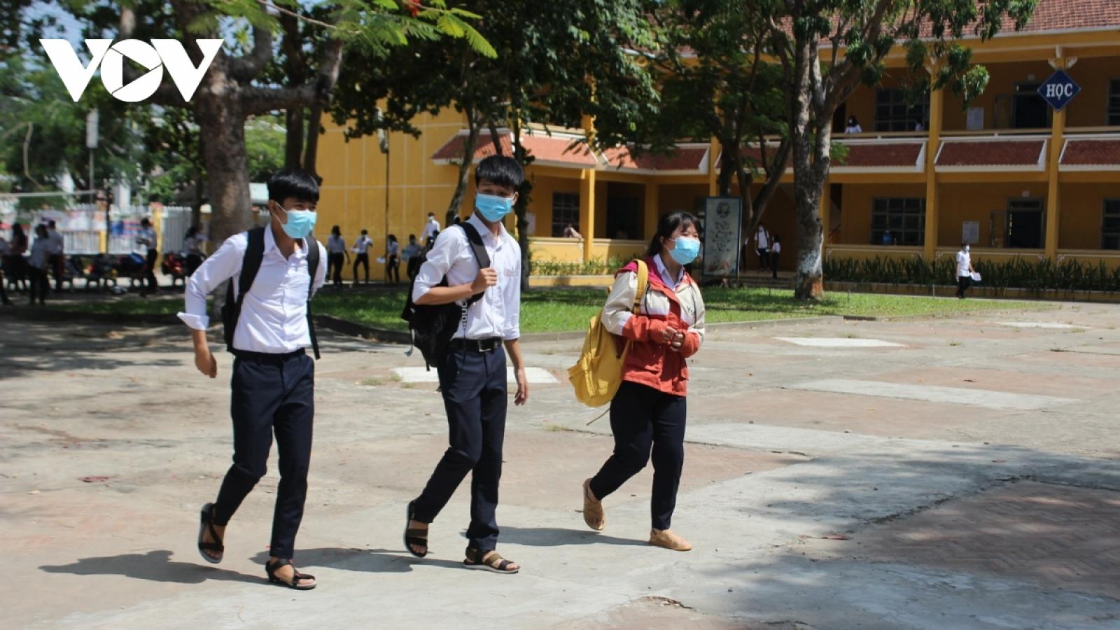 Quảng Nam xây dựng lại lịch thi học kỳ 2, đảm bảo phòng dịch COVID-19