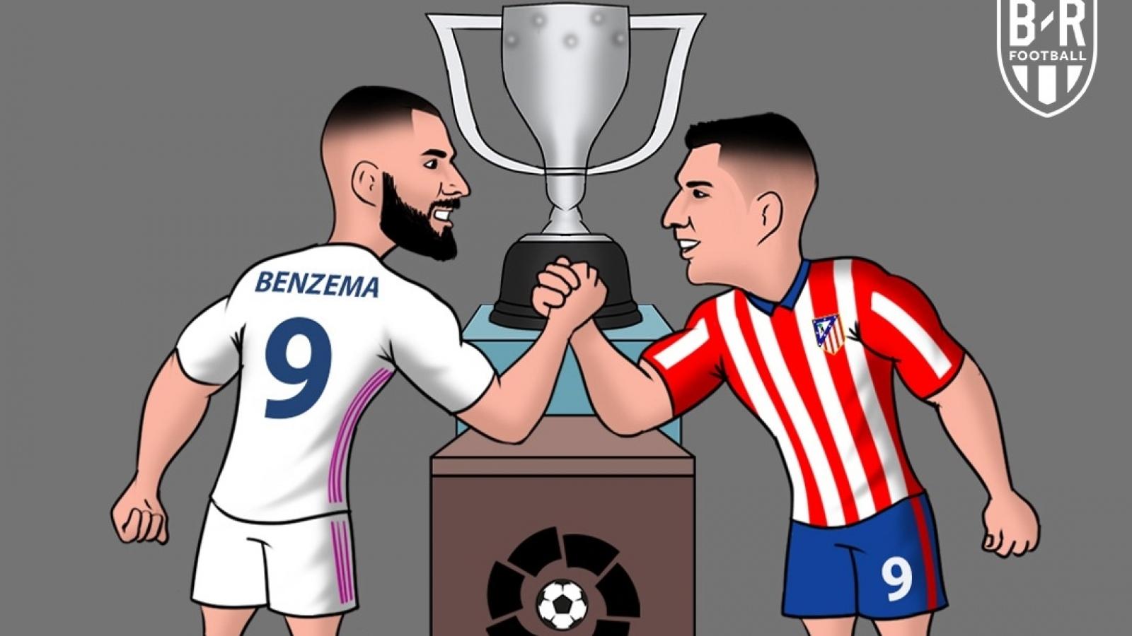 Biếm họa 24h: Real Madrid và Atletico Madrid tranh ngôi vô địch La Liga