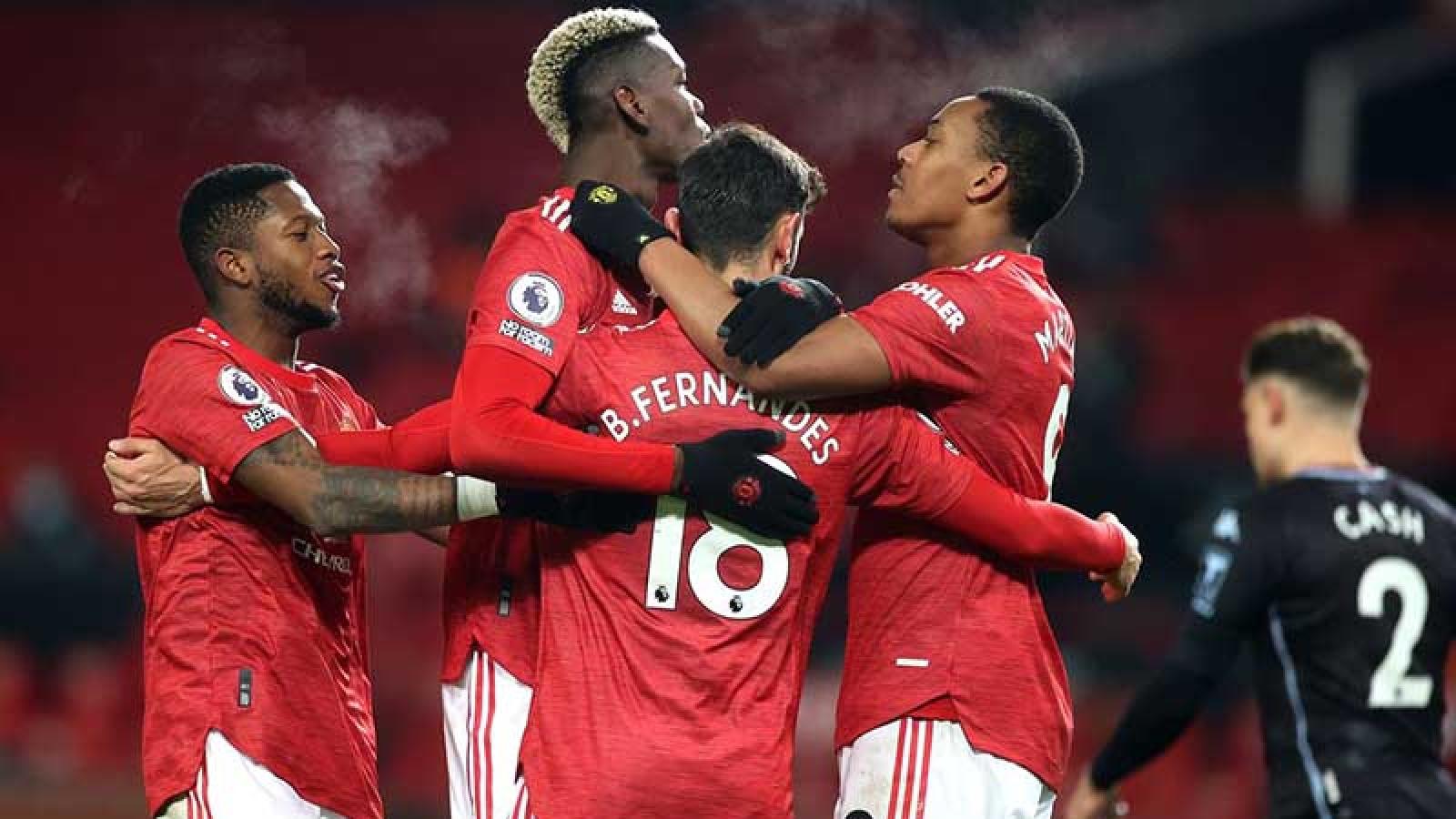 """TRỰC TIẾP Aston Villa 0-0 MU: Bruno - Pogba """"tiếp đạn"""" cho Rashford"""