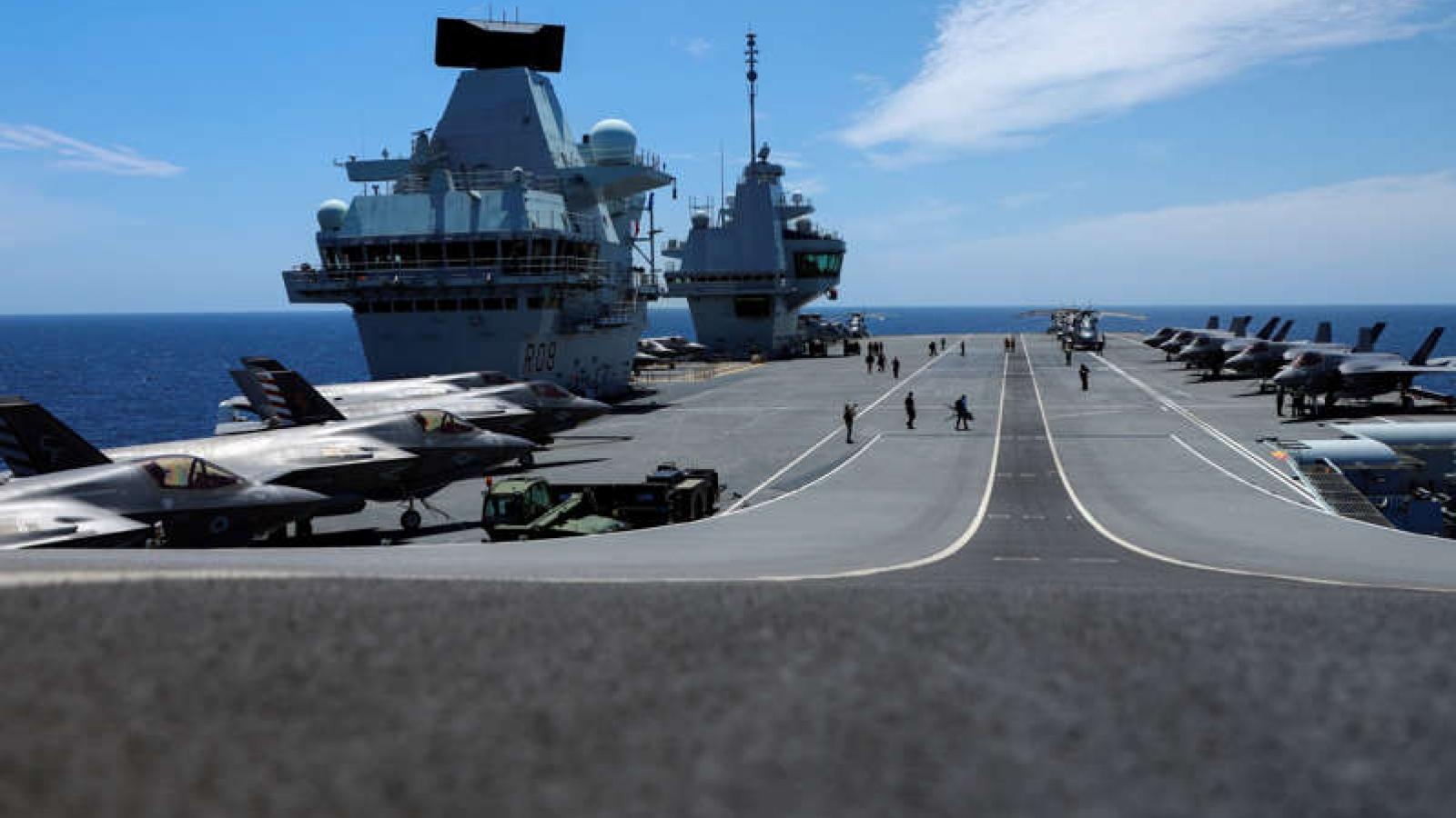 Ngoại giao chiến hạm: Tàu sân bay Anh tập trận cùng NATO, gửi thông điệp tới Trung Quốc