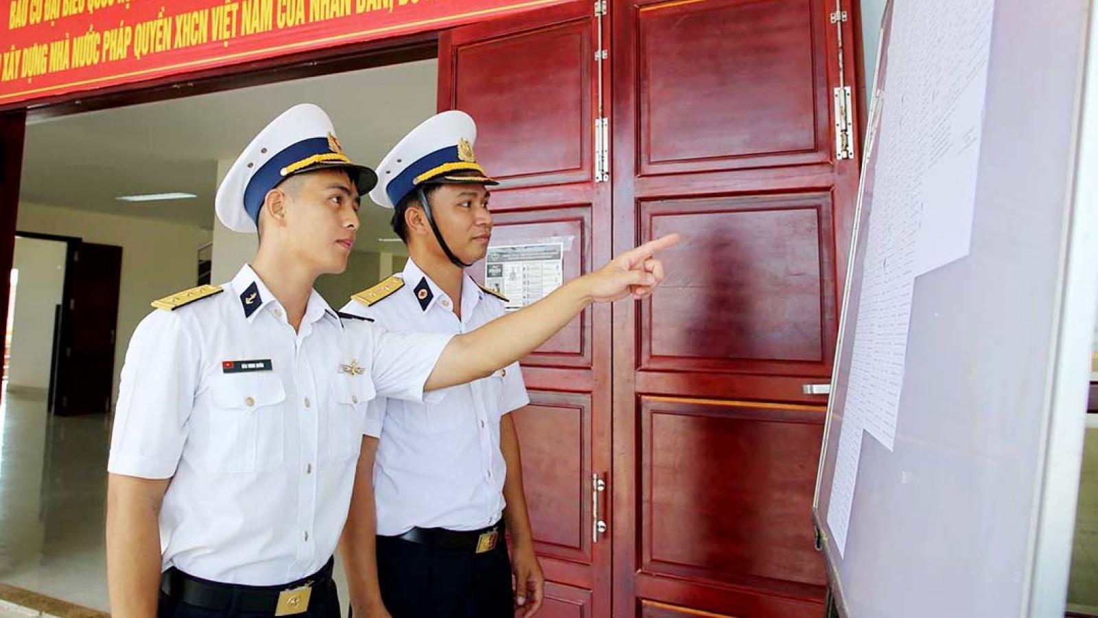 Quân, dân Trường Sa sẵn sàng cho ngày bầu cử