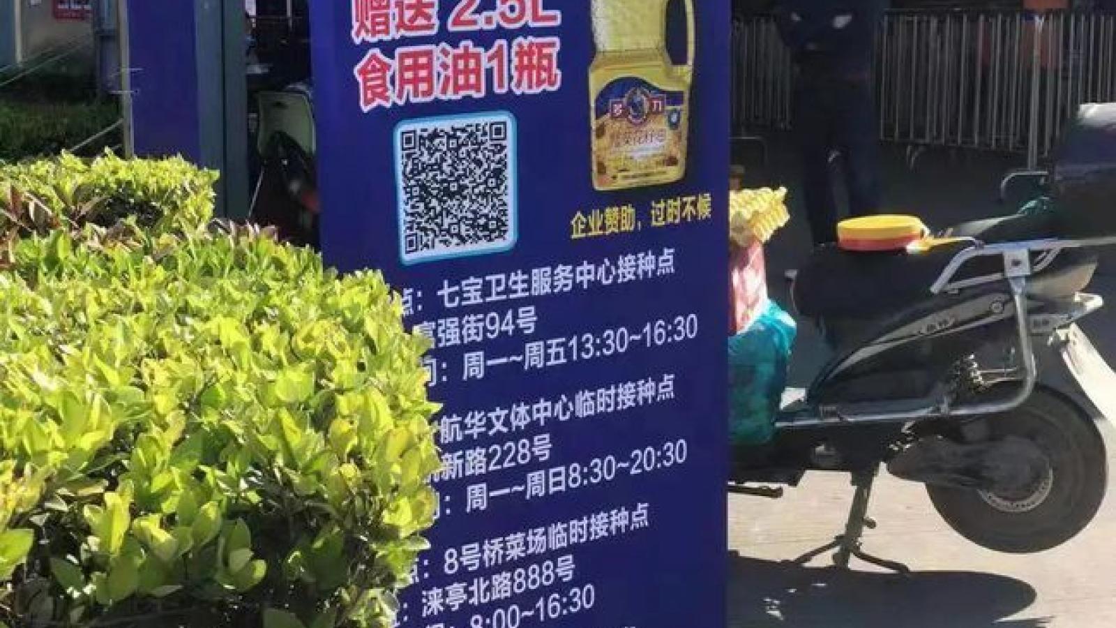 Trung Quốc dùng chiêu thức mới thu hút người dân tiêm vaccine Covid-19