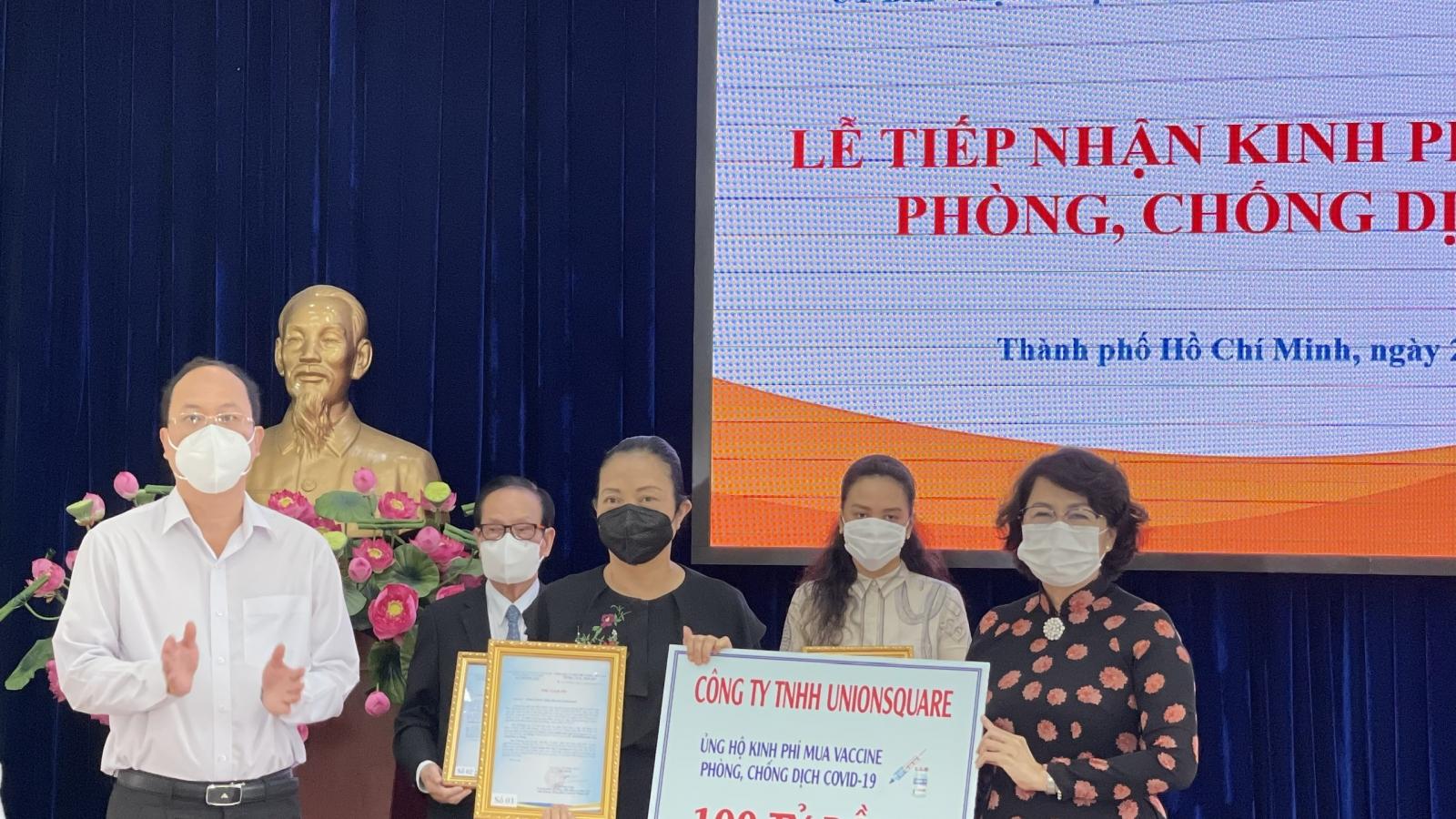 TP.HCM tiếp nhận hơn 2.077 tỷ đồng ủng hộ mua vaccine ngừa Covid-19