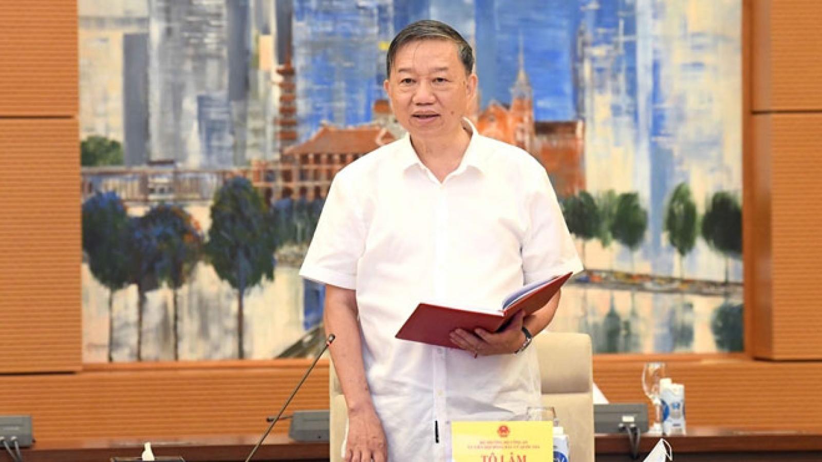 Bộ trưởng Công an Tô Lâm: Có hiện tượng vận động người dân không đi bầu cử