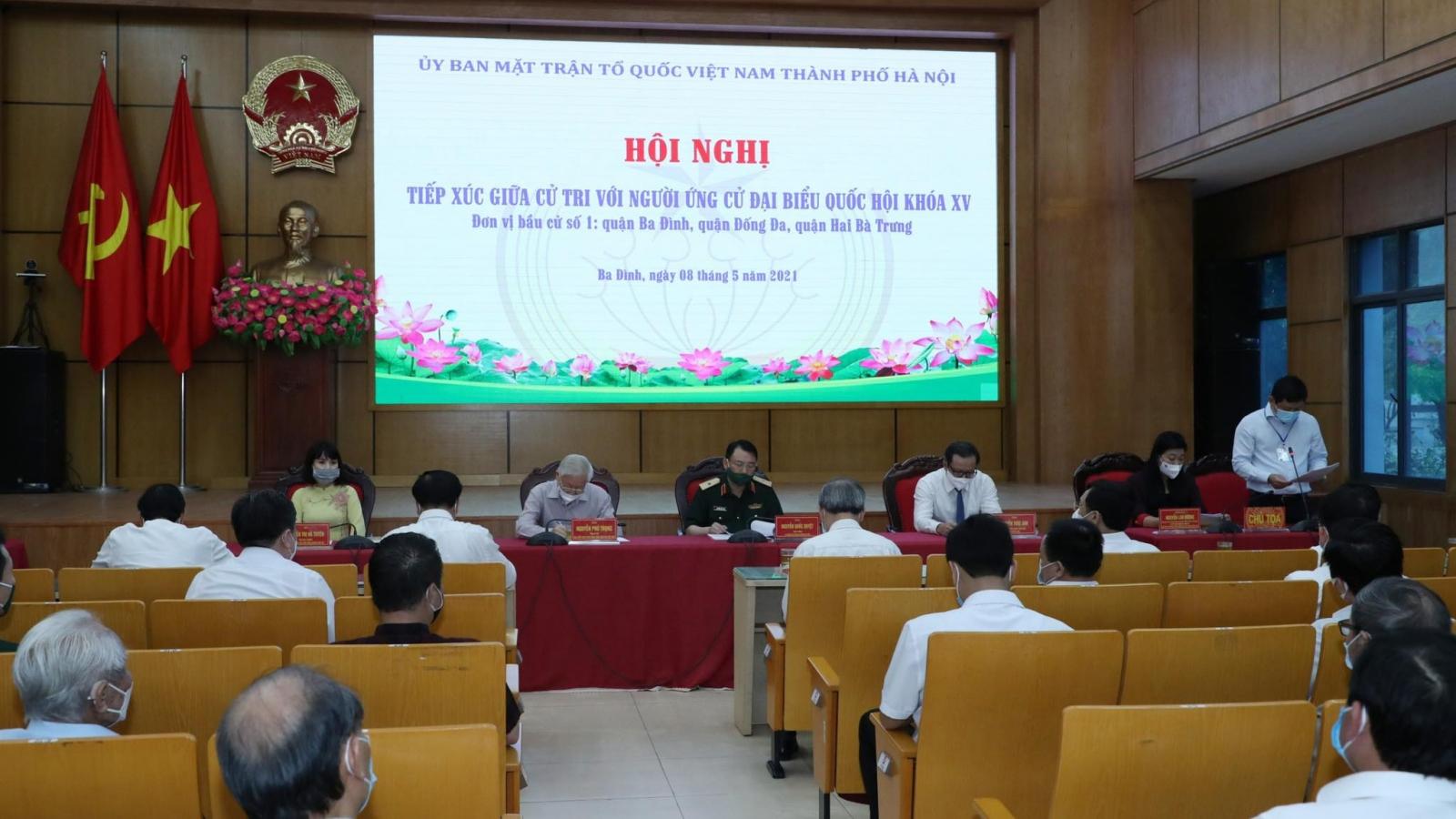 Ứng cử viên ĐBQH đơn vị bầu cử số 1 của Hà Nội gặp mặt cử tri