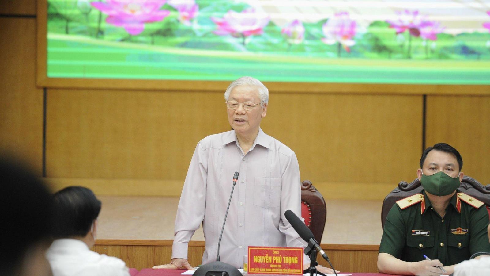 Tổng Bí thư NguyễnPhú Trọngtiến hành tiếp xúc cử tri, vận động bầu cử tại Hà Nội