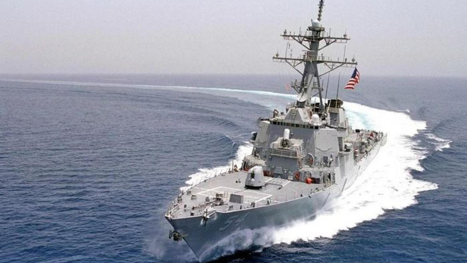 Tàu khu trục Mỹ áp sát quần đảo Hoàng Sa