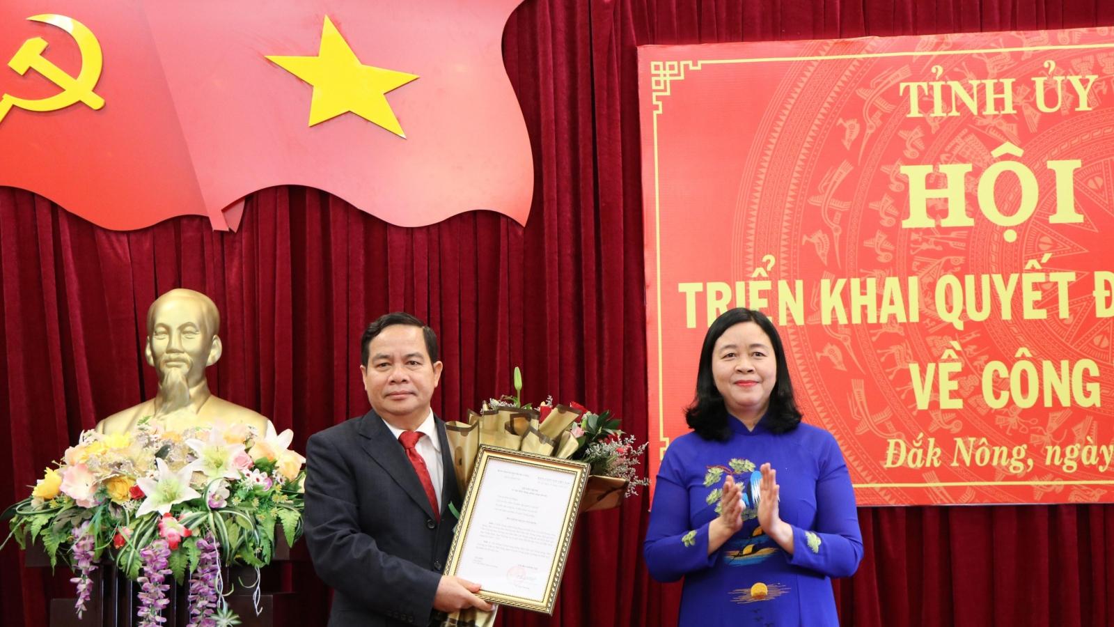 Ông Điểu K'Ré được điều động giữ chức Phó Bí thư Tỉnh ủy Đắk Nông