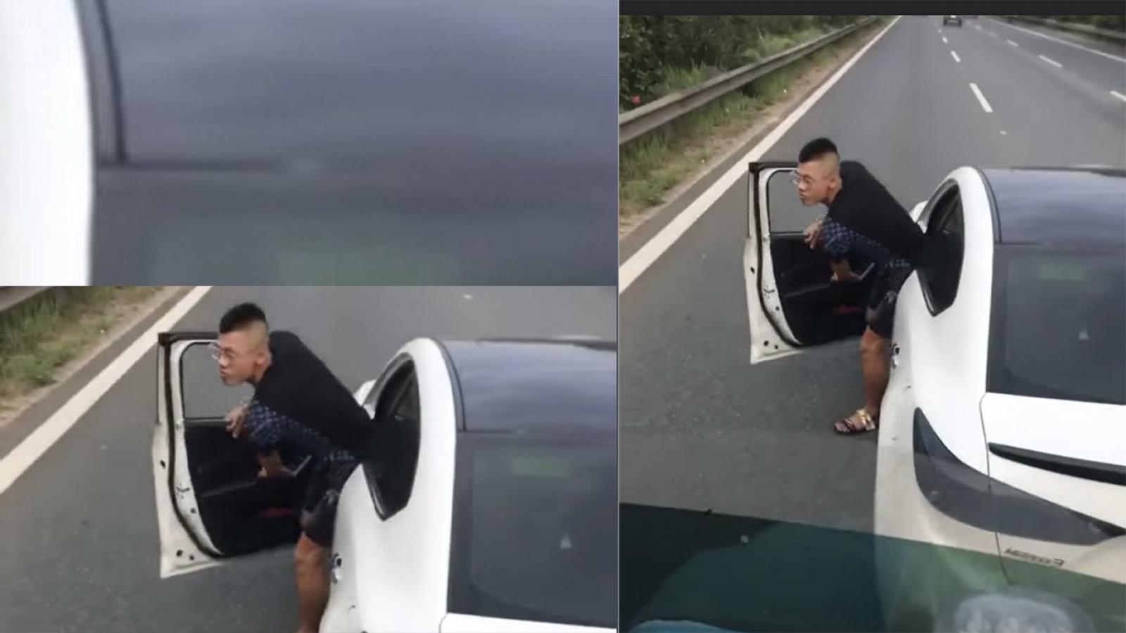 Xử phạt lái xe đánh võng, dừng xe giữa cao tốc để gây sự