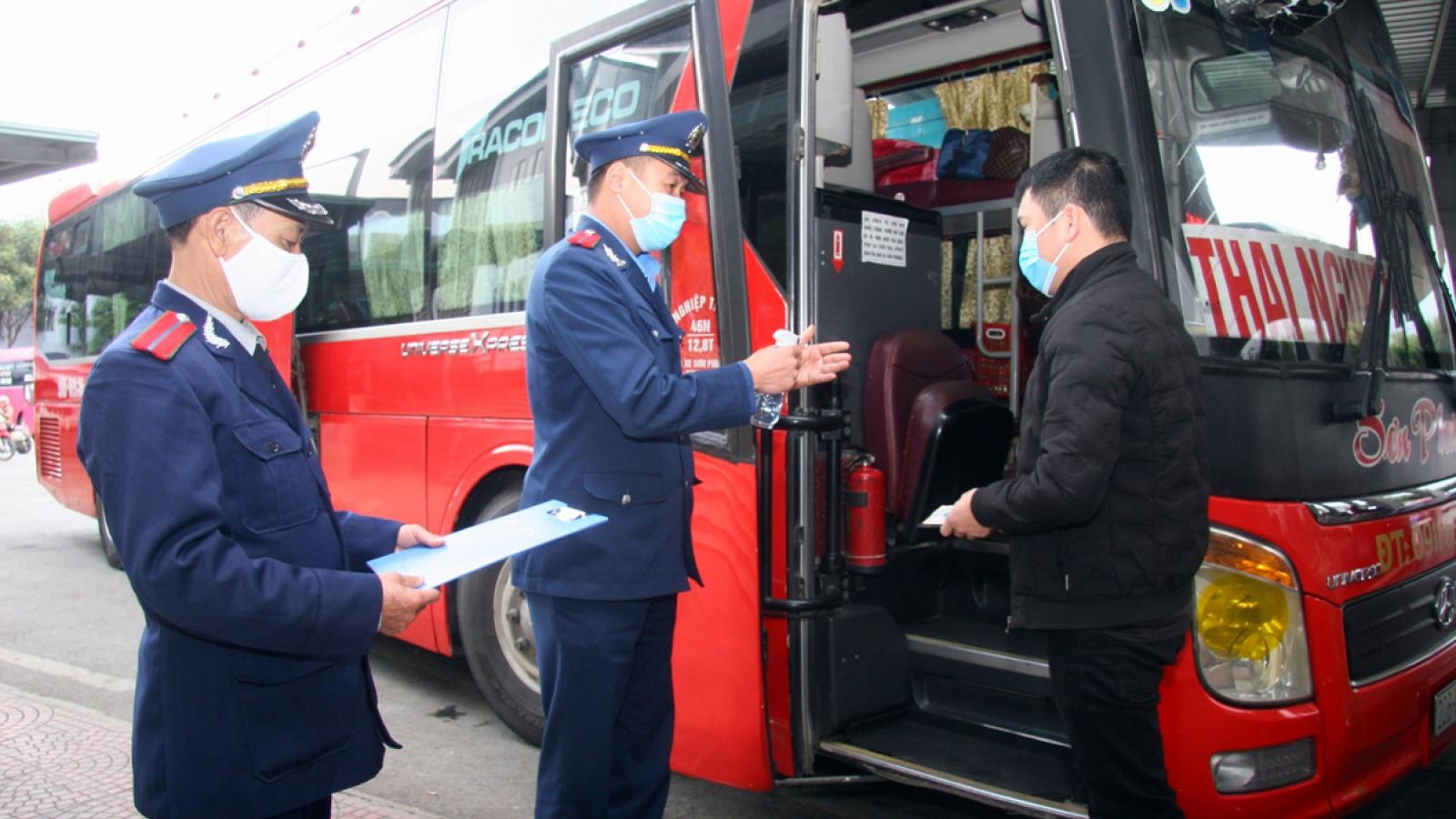 Lai Châu tạm dừng vận chuyển hành khách đi, về các tỉnh Bắc Giang, Sơn La, Điện Biên