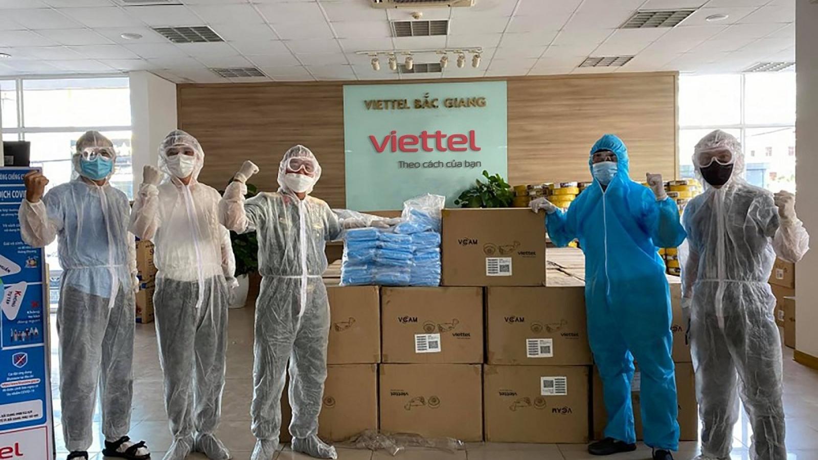 Viettel tặng 100% lưu lượng data cho người dân tại tâm dịch Bắc Ninh, Bắc Giang