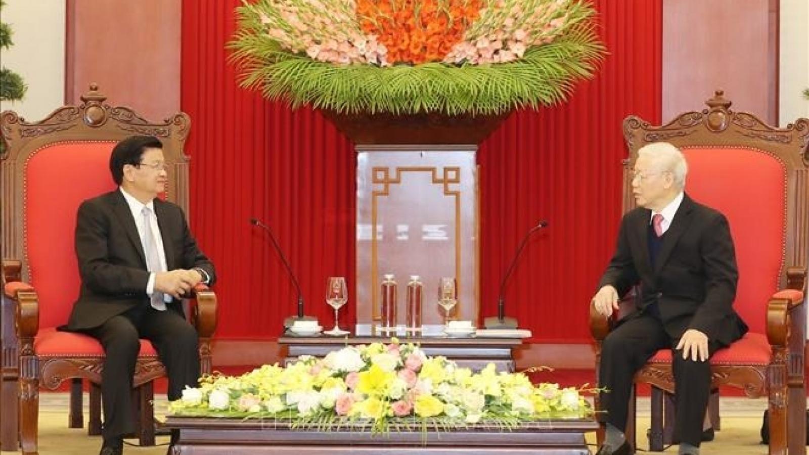 Tổng Bí thư, Chủ tịch Lào Thongloun Sisoulith gửi Thư cảm ơn Tổng Bí thư, Chủ tịch nước ta