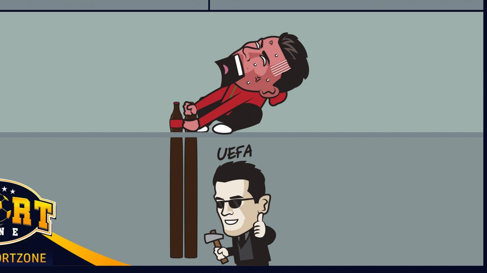 """Biếm họa 24h: UEFA cảnh báo những cầu thủ """"học theo"""" Ronaldo"""