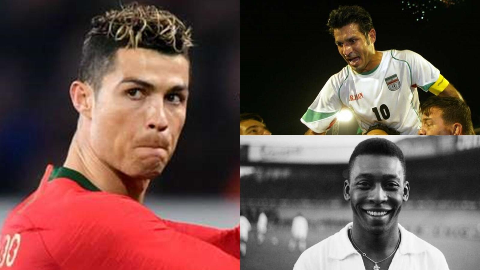 Top 10 chân sút vĩ đại nhất ĐTQG trên toàn thế giới: Ronaldo sắp dẫn đầu
