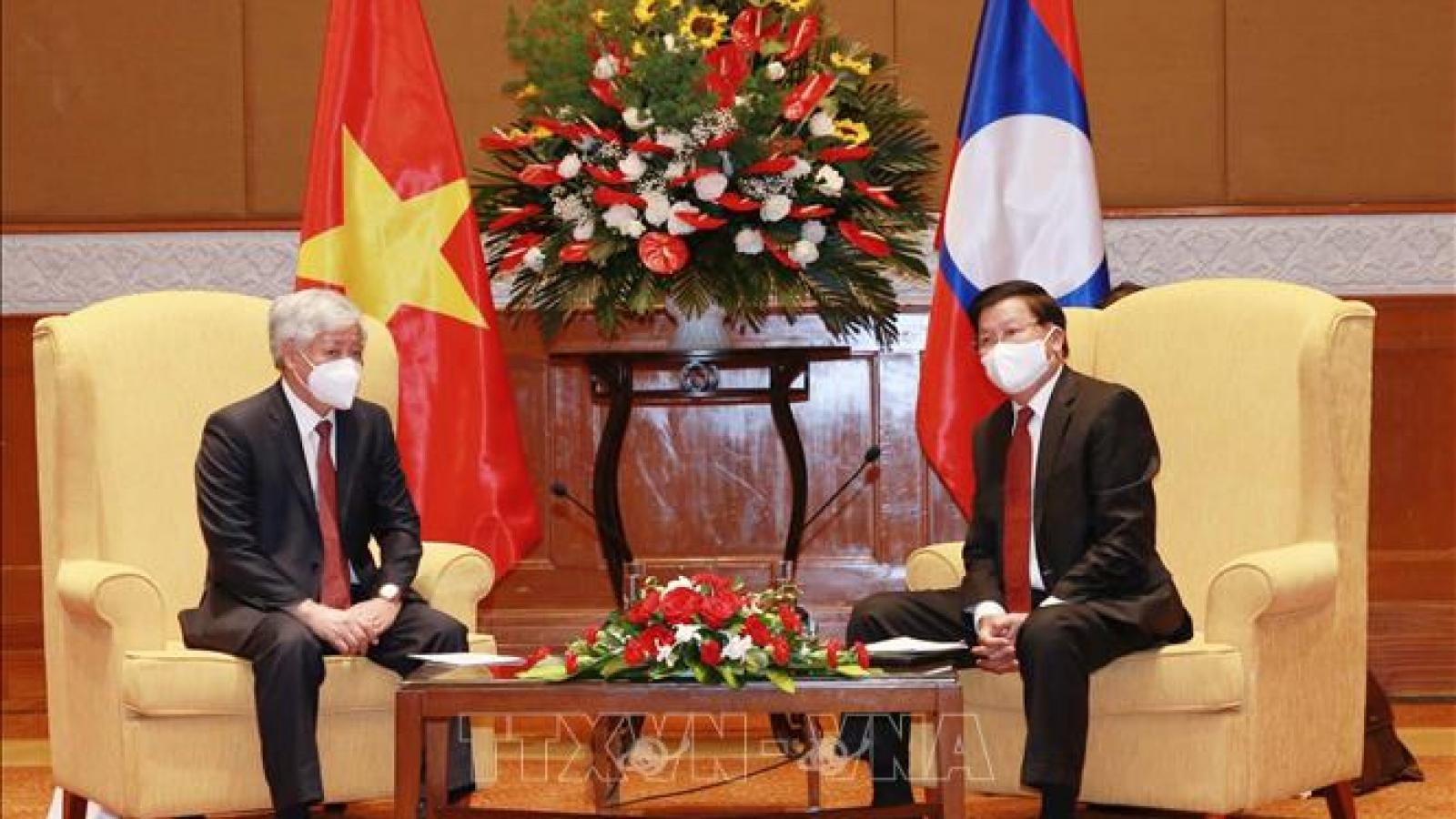 Tổng Bí thư, Chủ tịch nước Lào tiếp Chủ tịch Ủy ban Trung ương MTTQ Việt Nam