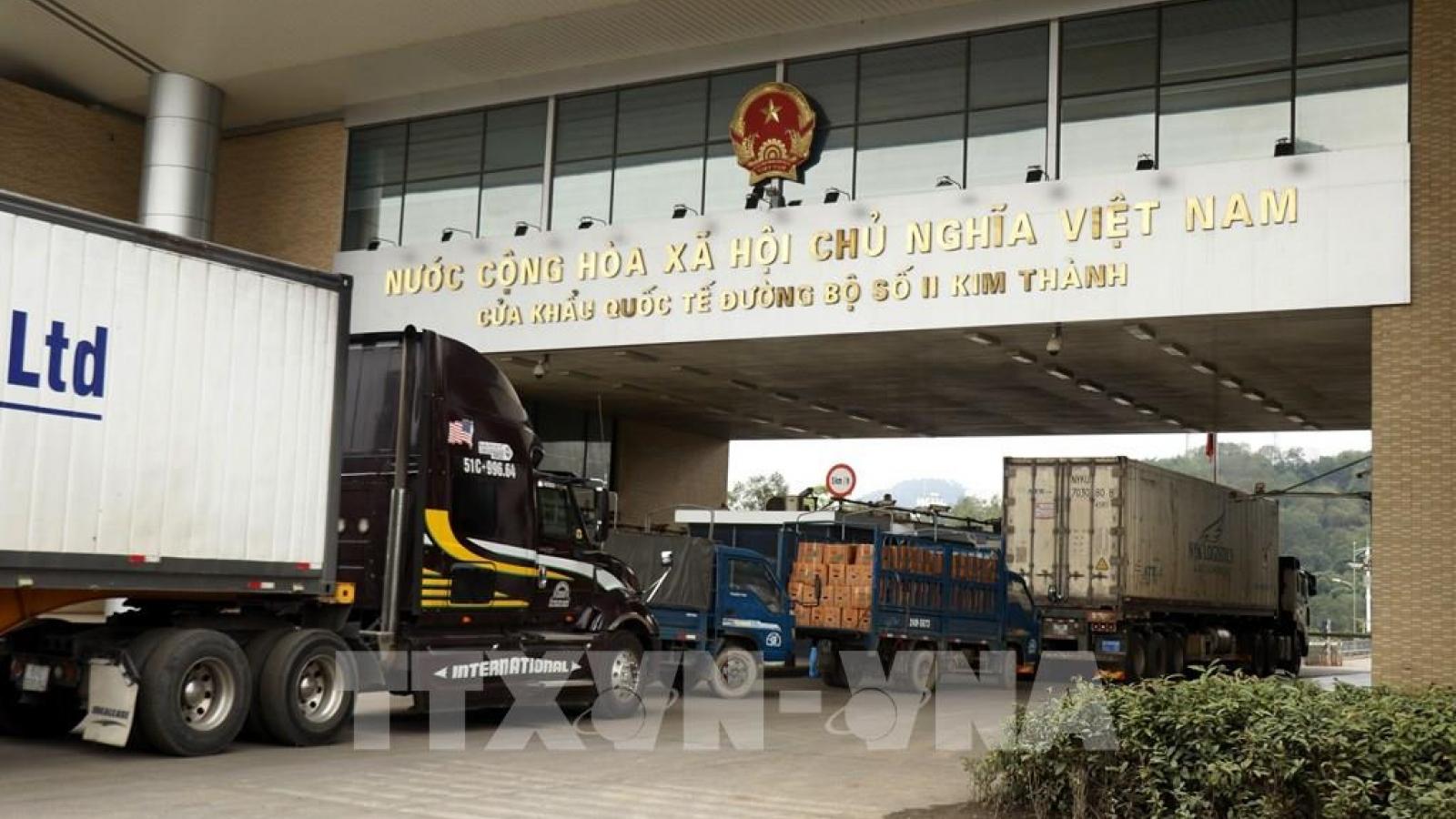 Hoạt động ngoại thương tại cửa khẩu Kim Thành đã trở lại bình thường