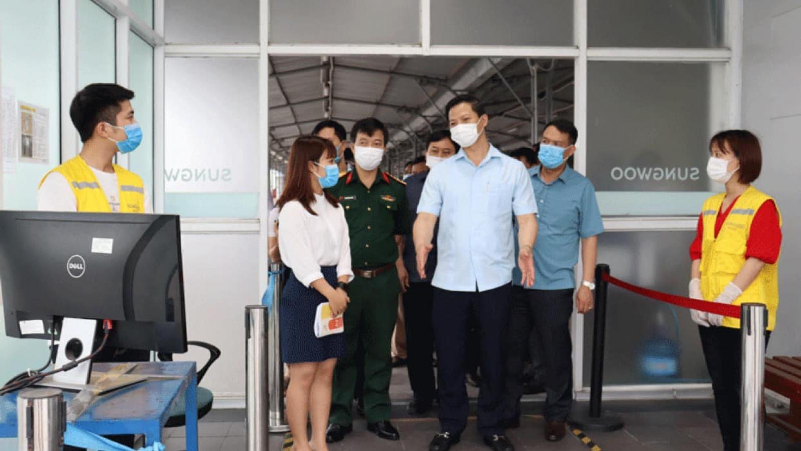 Lãnh đạo Bắc Ninh khẳng định không để dịch COVID-19 kéo dài tại Thuận Thành
