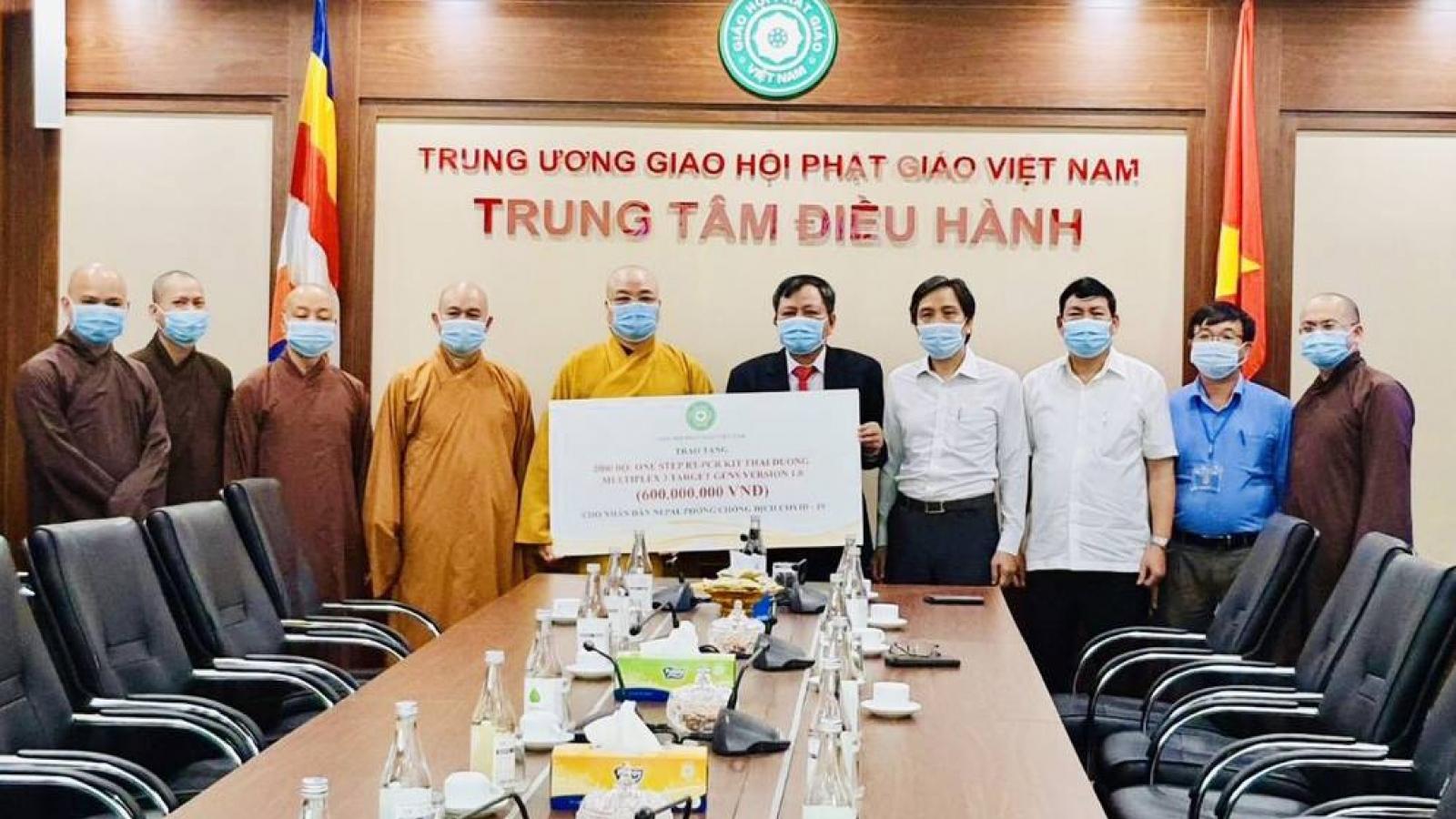 Giáo hội Phật giáo Việt Nam trao tặng Nepal 2.000 bộ kít thử COVID-19