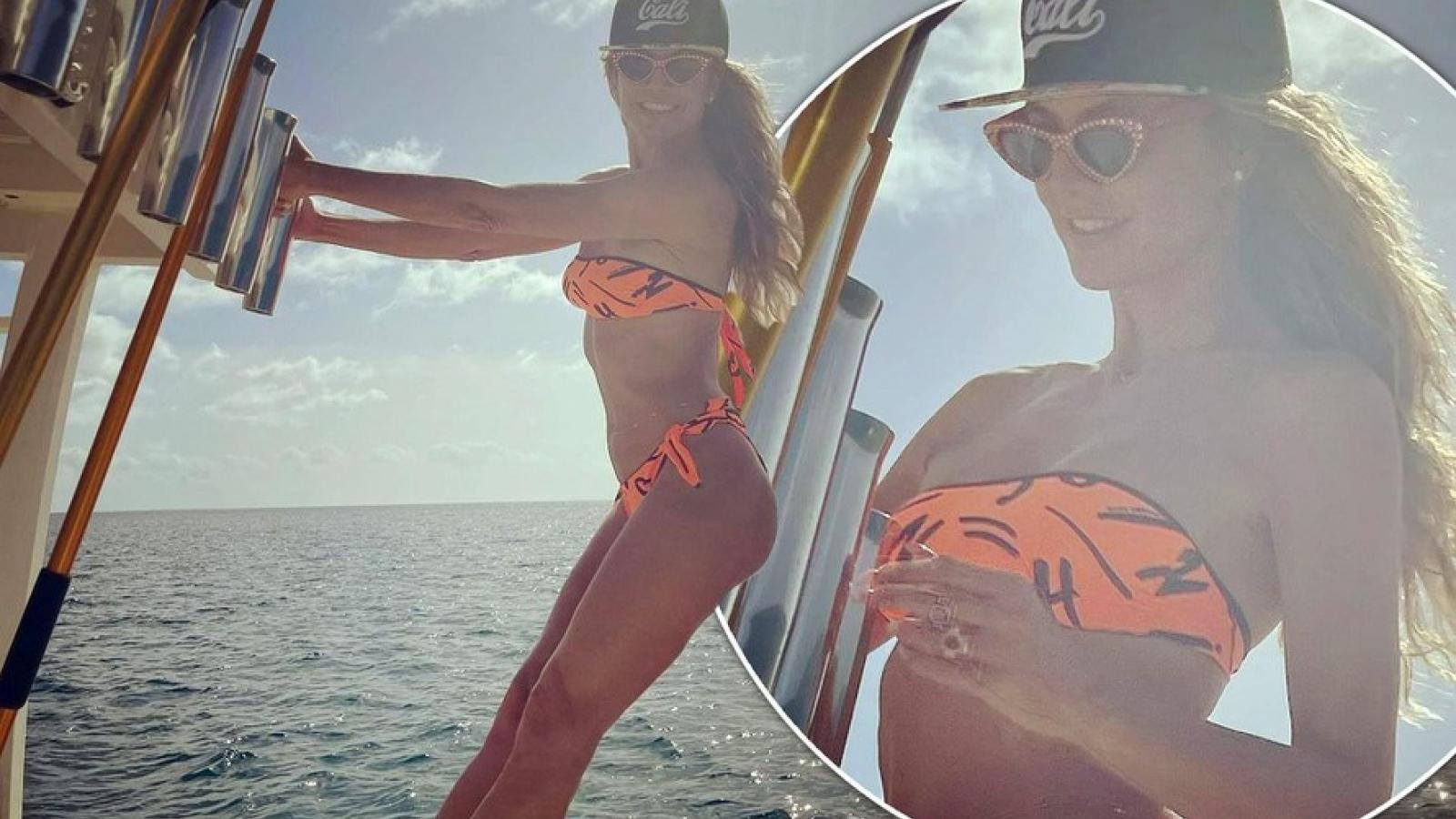 Siêu mẫu Heidi Klum gợi cảm với bikini hai mảnh ở tuổi U50