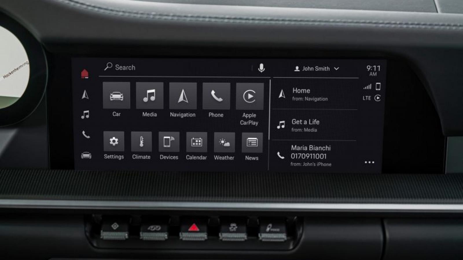 Porsche Communication Management 6.0 thú vị hơn với thiết kế giao diện người dùng mới