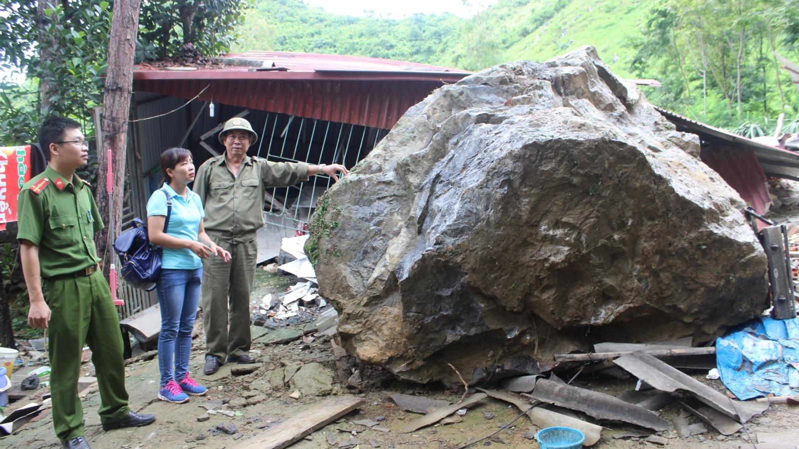 Sơn La phòng chống nguy cơ đá lăn trong mùa mưa lũ