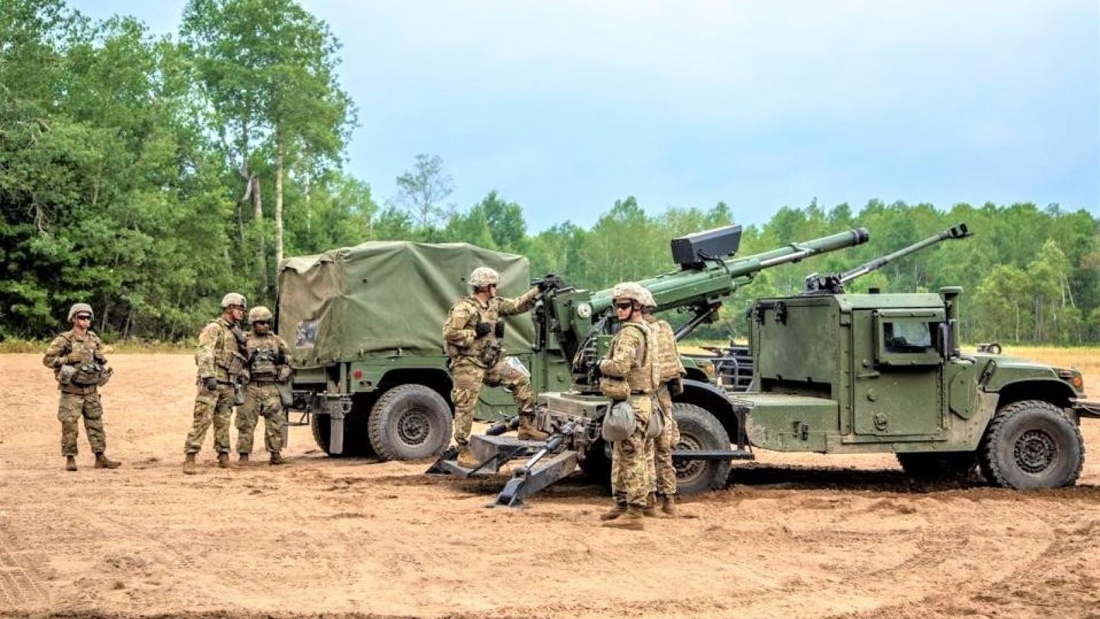 Mỹ tích hợp pháo cỡ lớn trên các phương tiện cơ động mặt đất