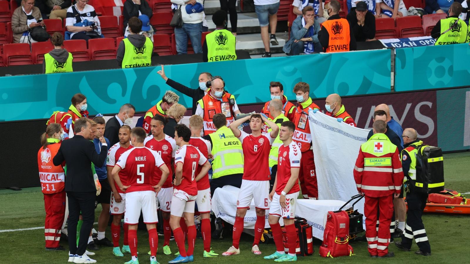 TRỰC TIẾP Đan Mạch 0 - 0 Phần Lan: Trận đấu tạm ngưng vì Eriksen bị đột quỵ trên sân