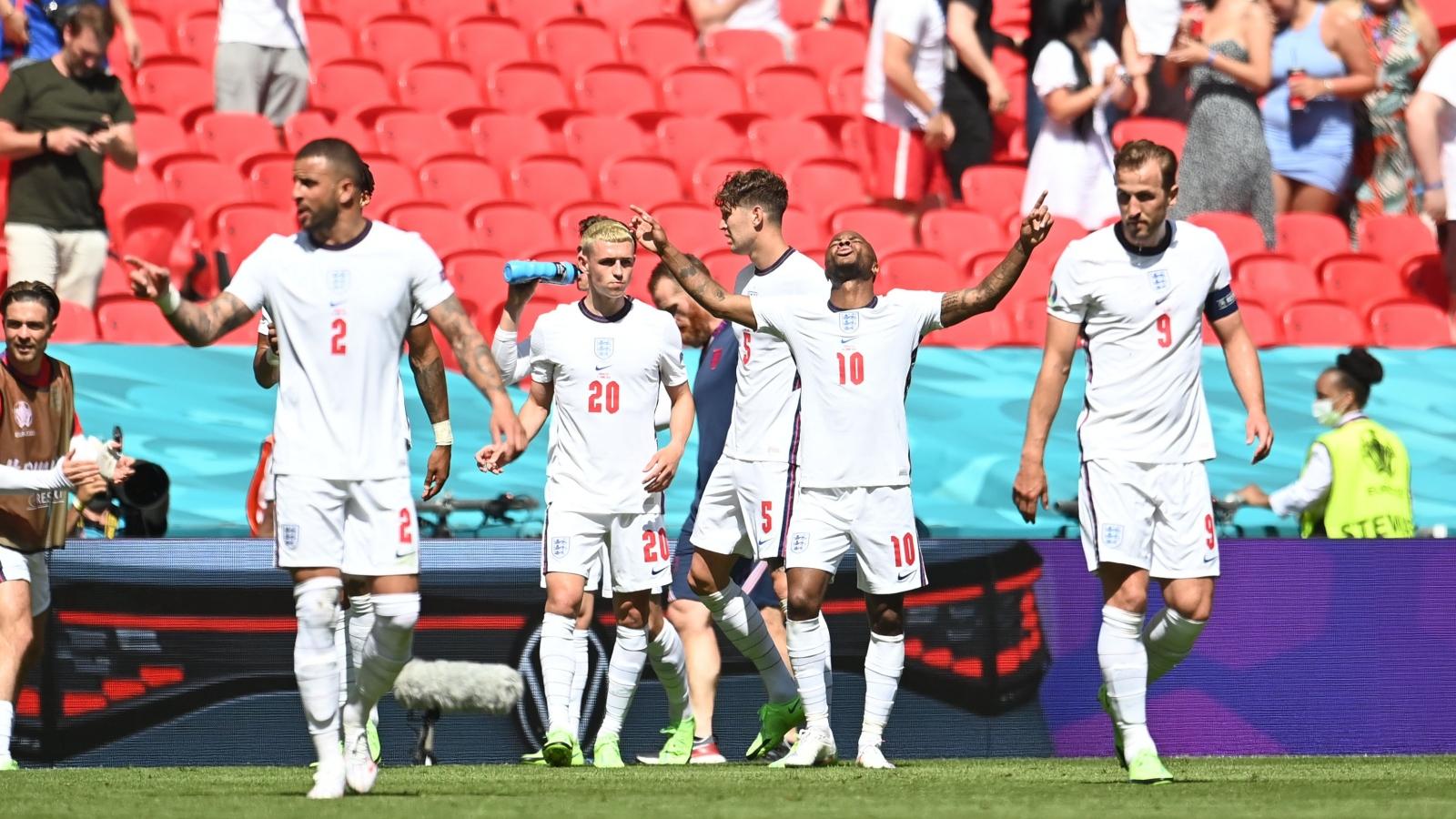 """Nhọc nhằn vượt ải Croatia, ĐT Anh xóa dớp """"buồn"""" không thắng các trận ra quân ở EURO"""