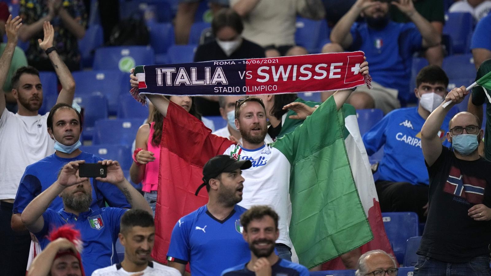 TRỰC TIẾP Italia 0 - 0 Thụy Sĩ: Tiến sát vé vào vòng knock-out