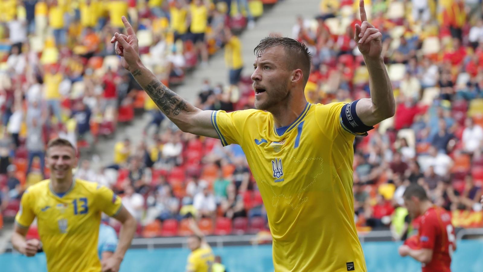 Ukraine giành chiến thắng kịch tính trước Bắc Macedonia
