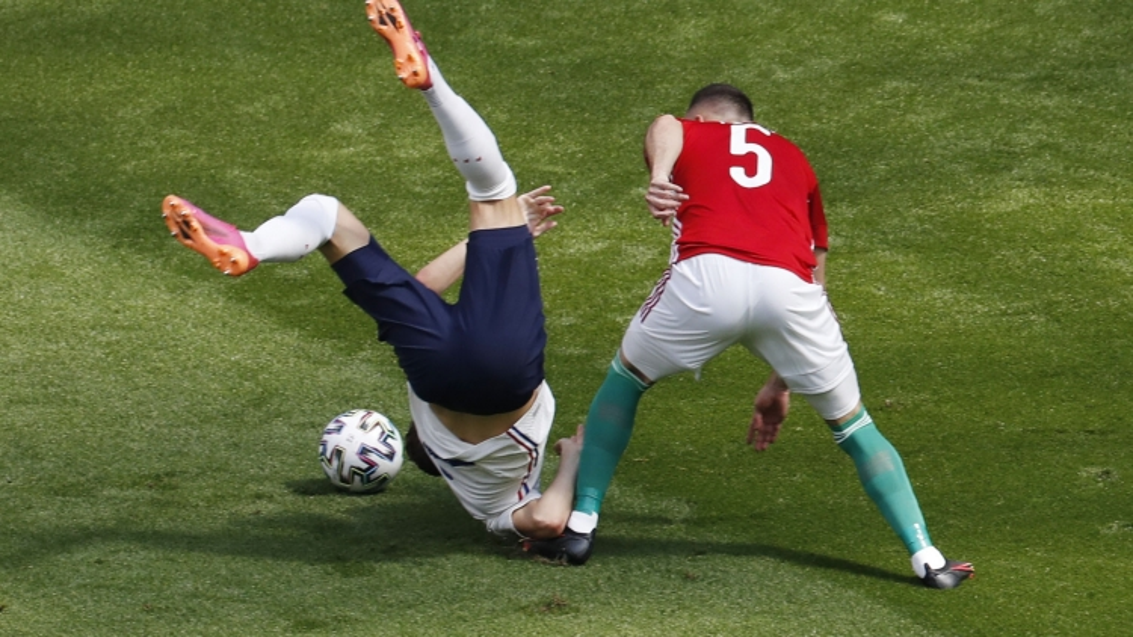 Trực tiếp bóng đá Hungary 0 - 0 Pháp: Chủ nhà khí thế