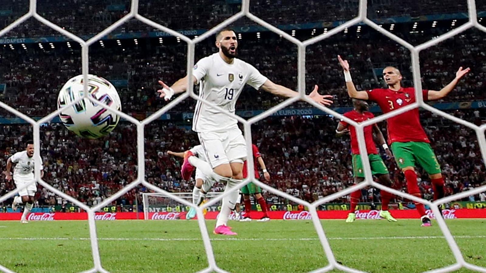 TRỰC TIẾP bóng đá Bồ Đào Nha 1 - 2 Pháp: Benzema lập cú đúp