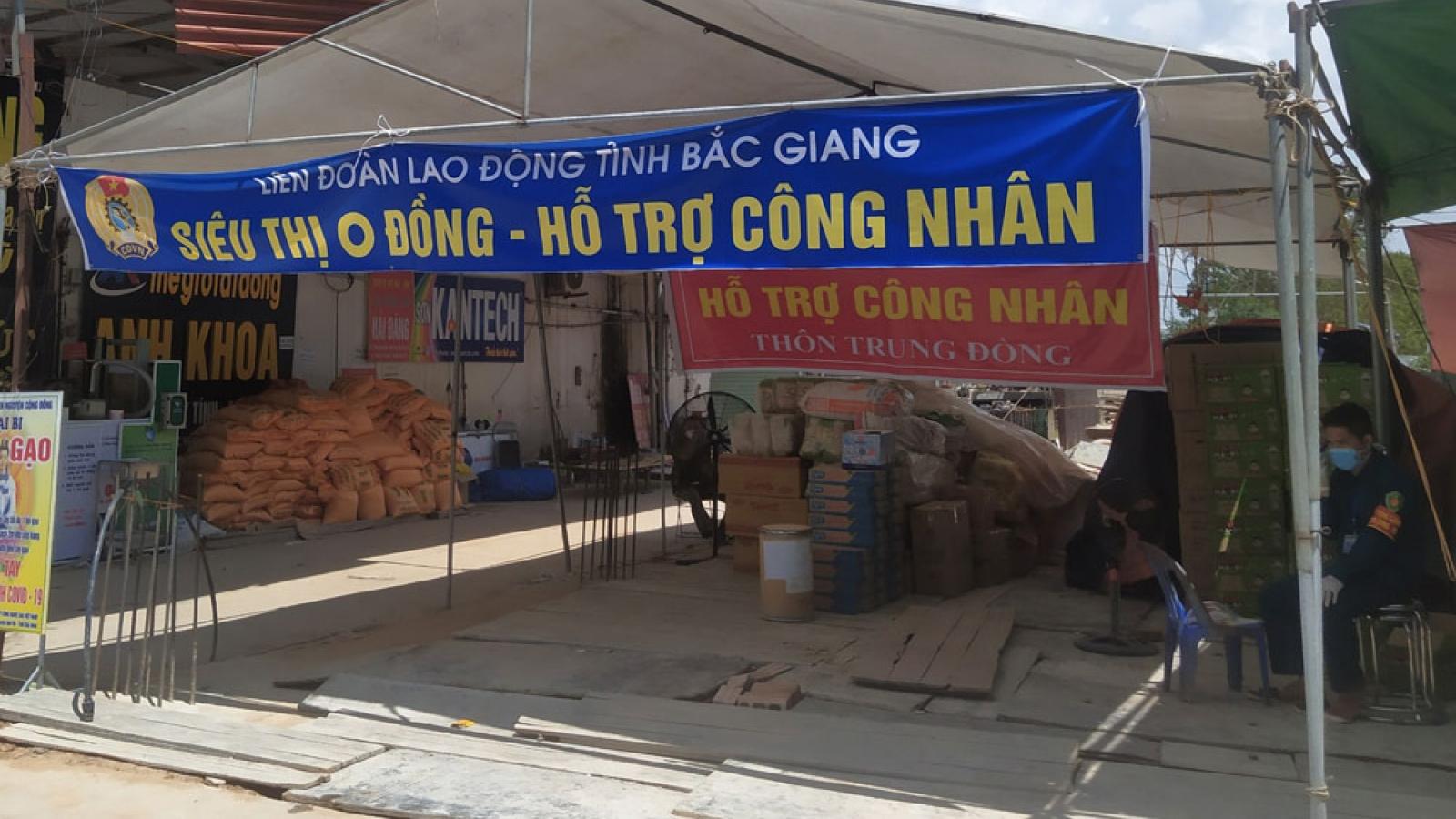 """""""Siêu thị 0 đồng"""" hỗ trợ người dân Bắc Giang"""