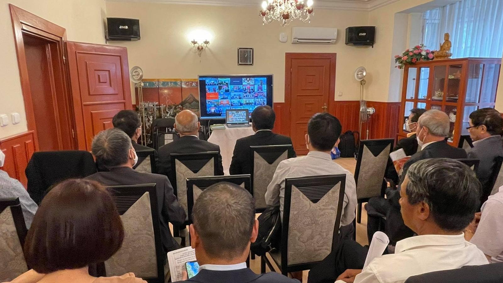 Hội nghị trực tuyến nghiên cứu, quán triệt Nghị quyết Đại hội XIII tại nước ngoài