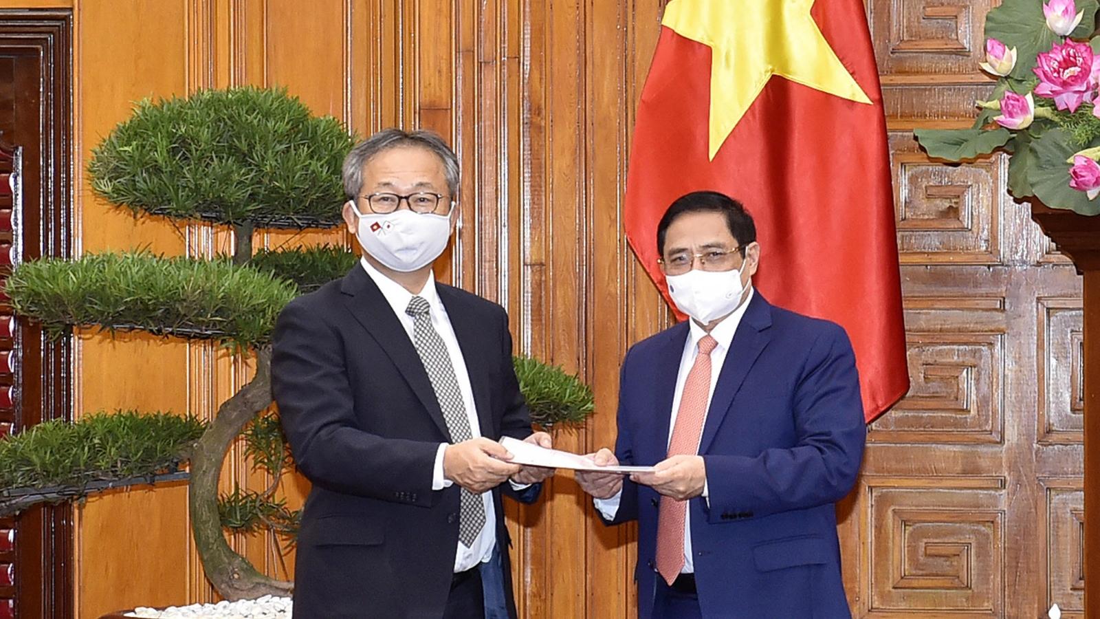 Thủ tướng Phạm Minh Chính tiếp Đại sứ Nhật Bản tại Việt Nam Yamada Takio