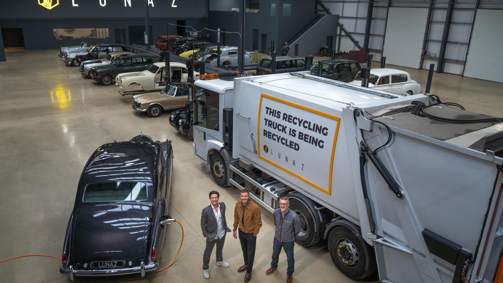David Beckham mua 10% cổ phần của thương hiệu chuyển đổi xe điện Lunaz
