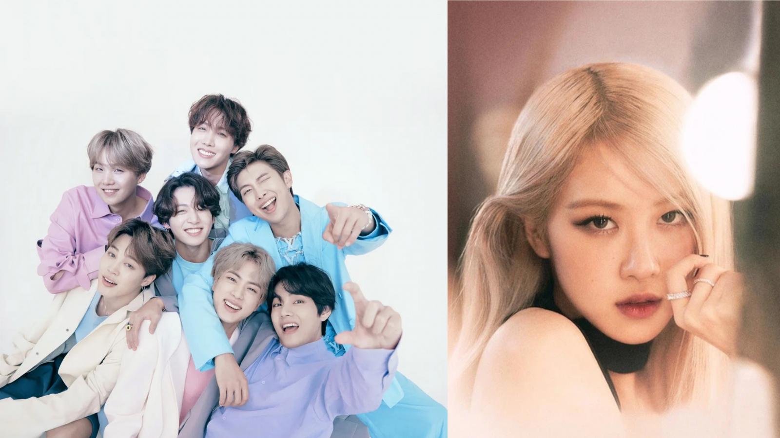 """BTS, Rosé dẫn đầu top 10 nghệ sĩ sở hữu MV có lượt xem """"khủng"""" nửa đầu 2021"""