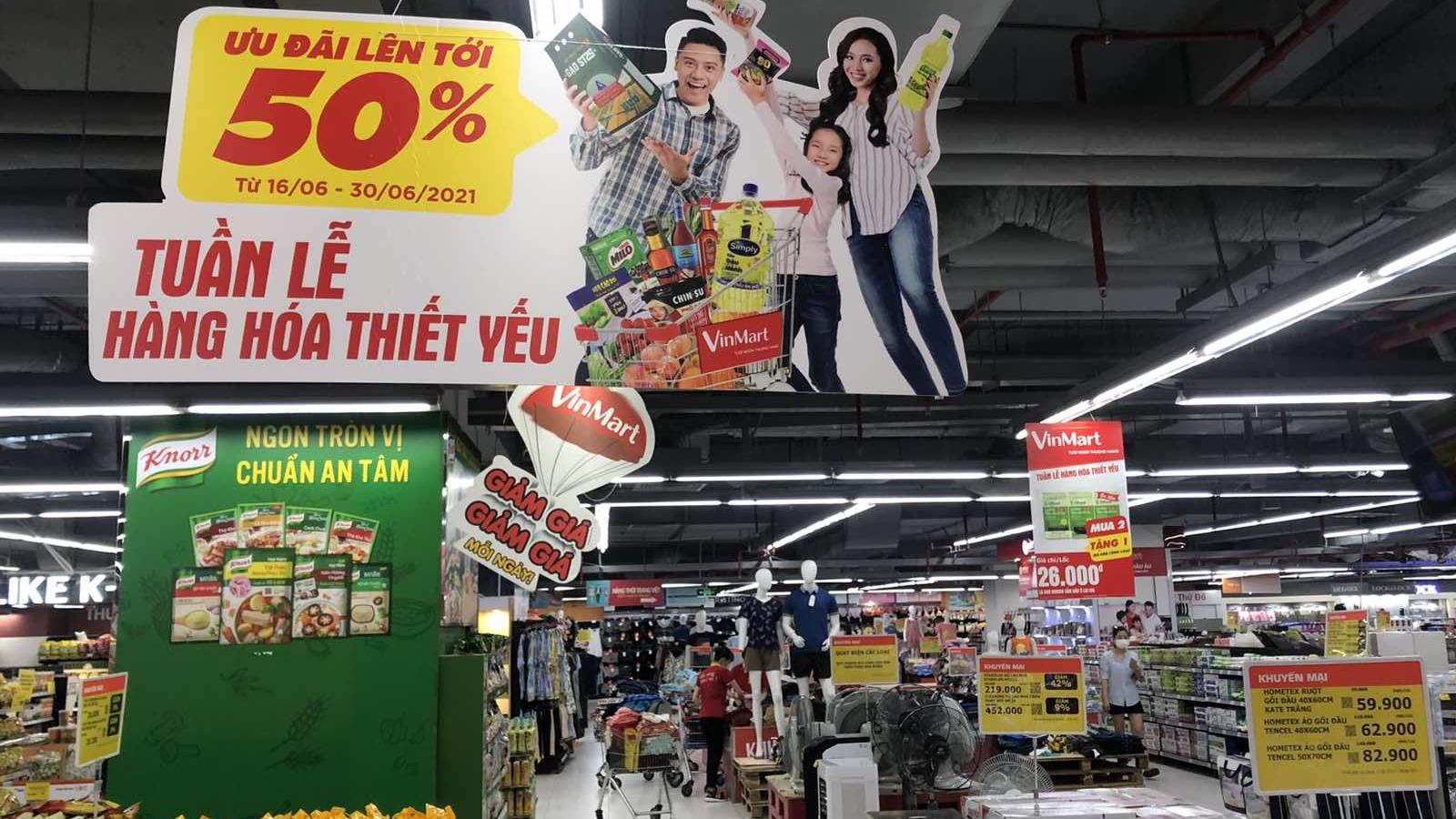 """""""Tuần lễ hàng thiết yếu"""" tại VinMart/VinMart+ giảm giá hàng trăm mặt hàng"""