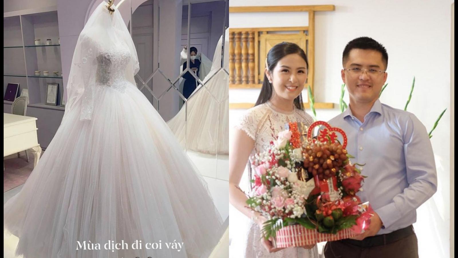 Chuyện showbiz: Hoa hậu Ngọc Hân hé lộ váy cưới, nghi vấn hôn lễ sắp diễn ra