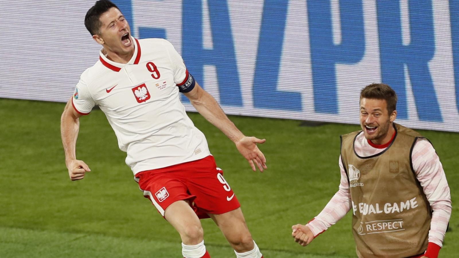 Lewandowski ghi bàn, Ba Lan khiến Tây Ban Nha có thể bị loại ngay vòng bảng EURO 2021
