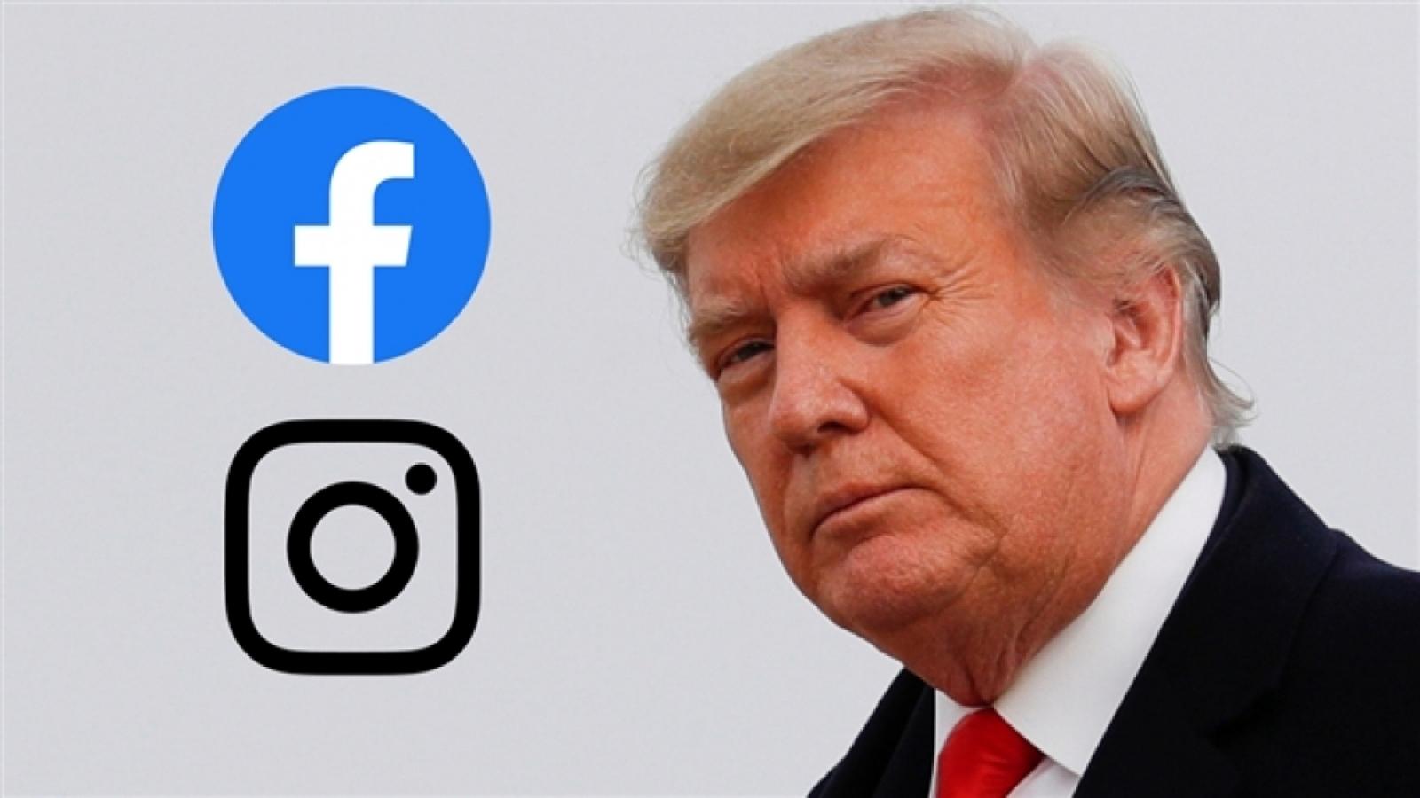 Tài khoản Facebook của ông Donald Trump bị khóa tới năm 2023
