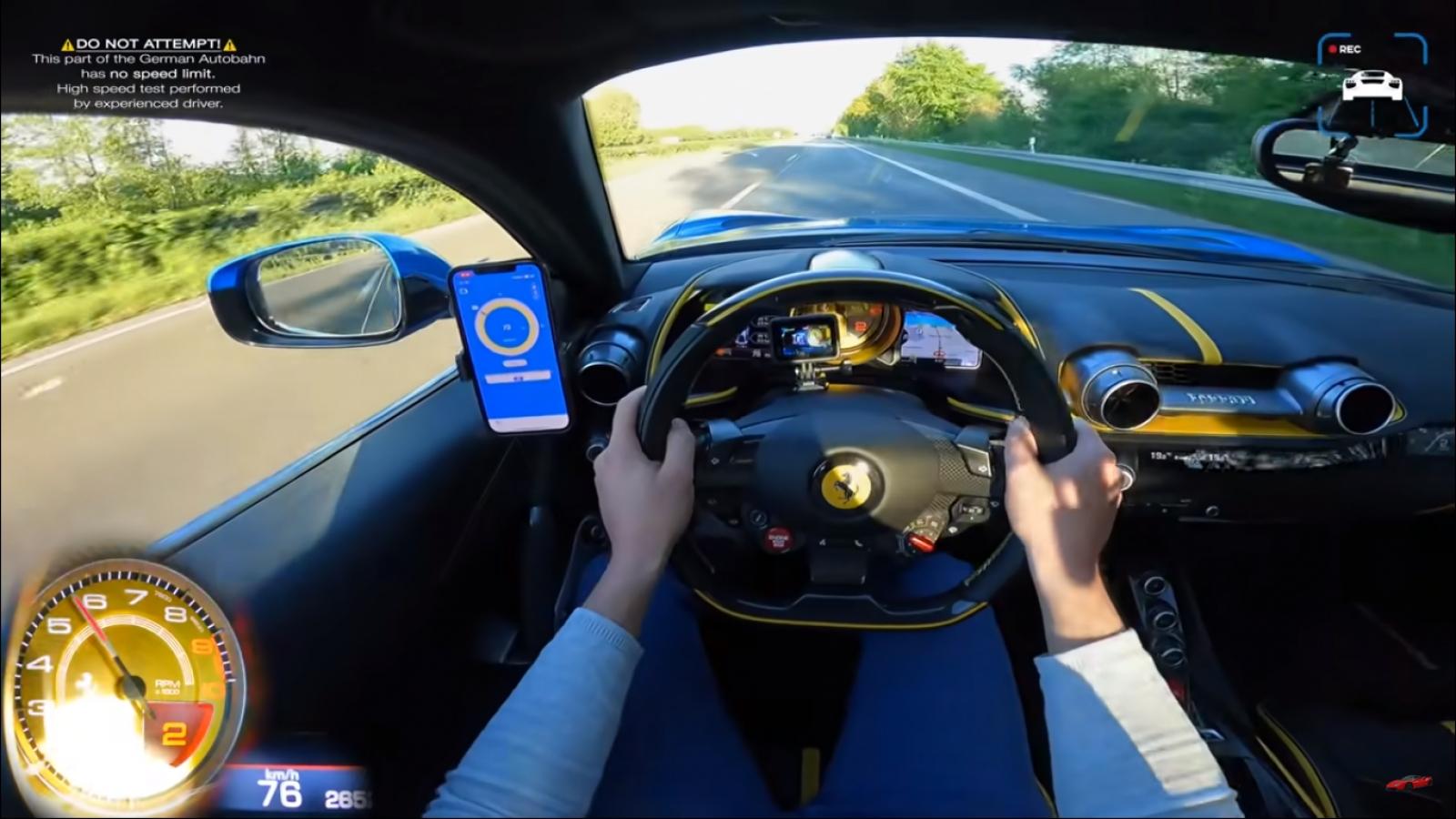 Video trải nghiệm sức mạnh của Ferrari 812 Superfast