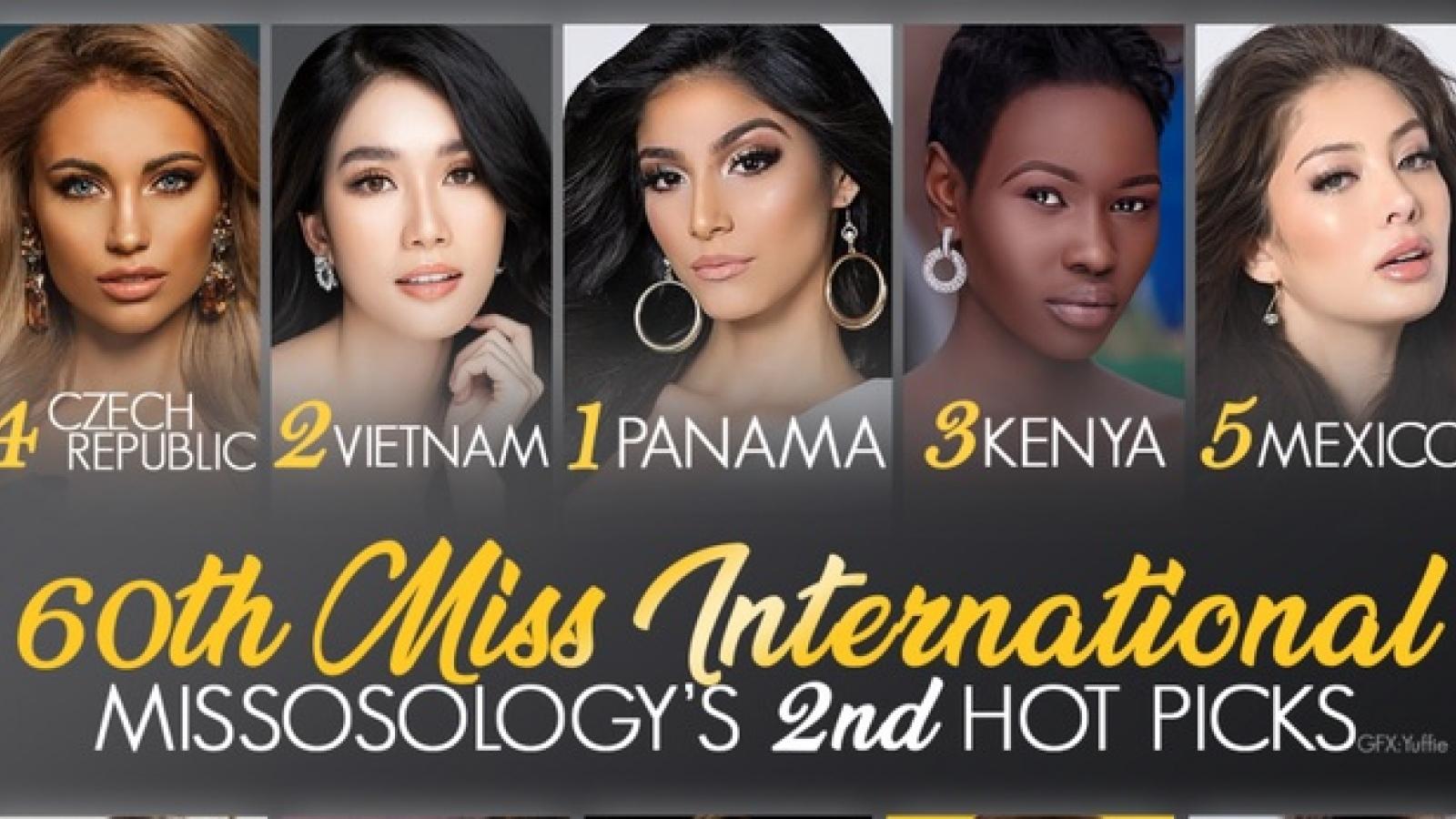 Missosology dự đoán top 3 Miss International, Phương Anh giành ngôi Á hậu 1