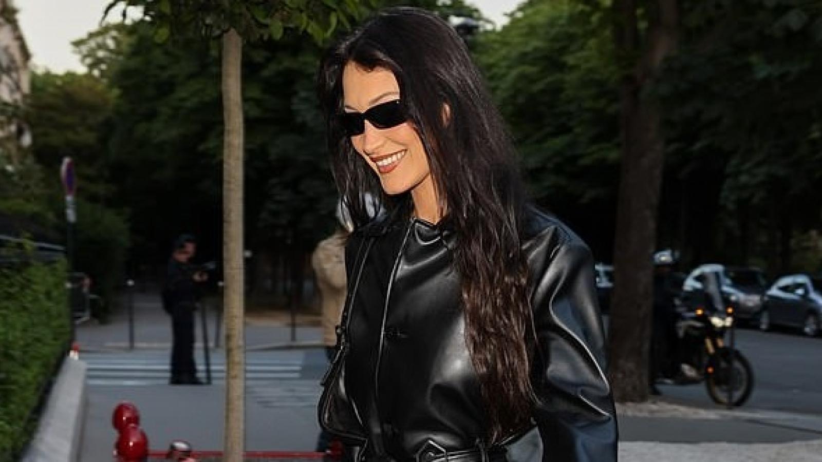 Bella Hadid phối đồ sang chảnh ra phố ở Paris